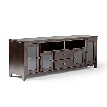 Amazon Com Simpli Home 3axccos72 Cosmopolitan Solid Wood 72 Inch