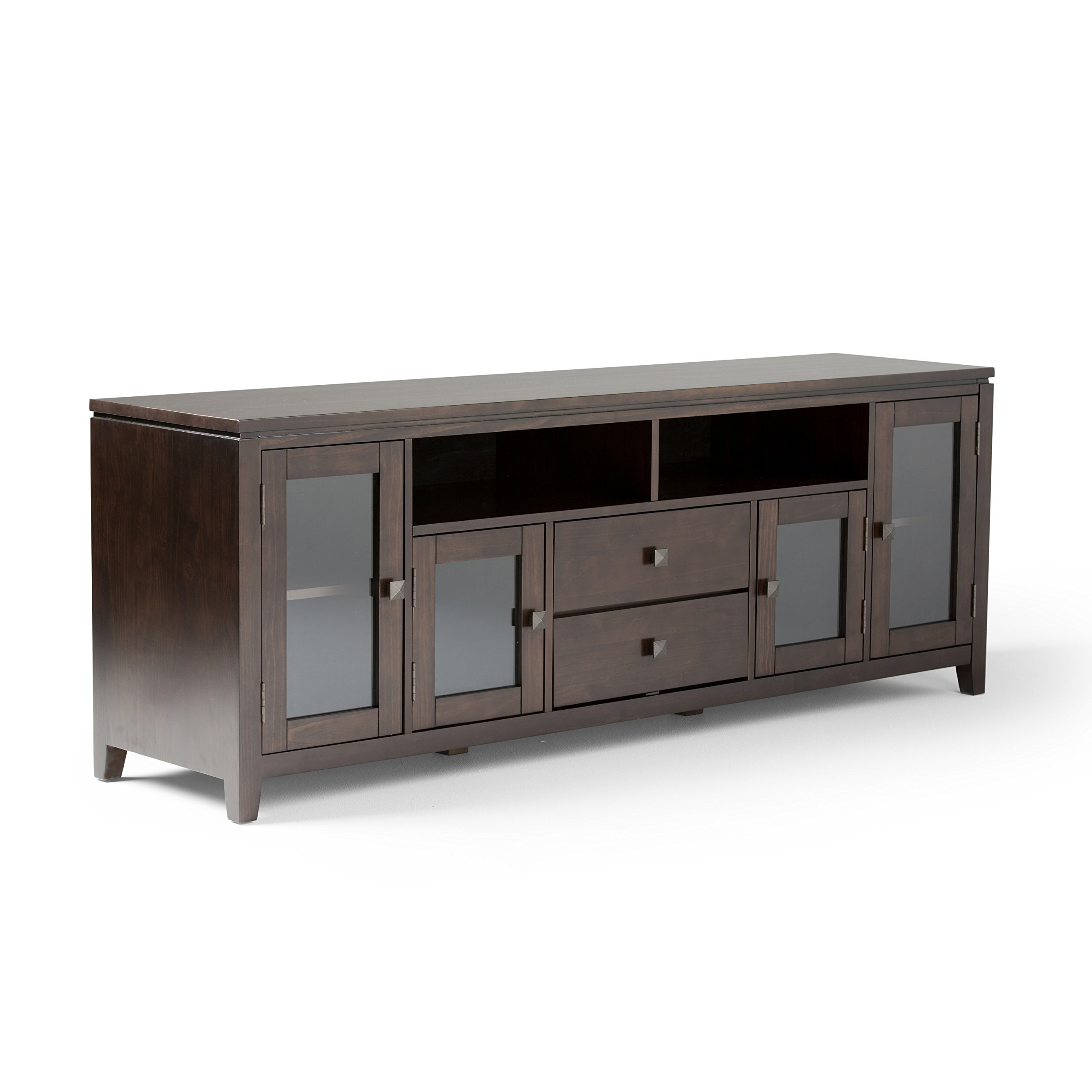Simpli Home Cosmopolitan Wide TV Media Stand, 72'', Coffee Brown by Simpli Home