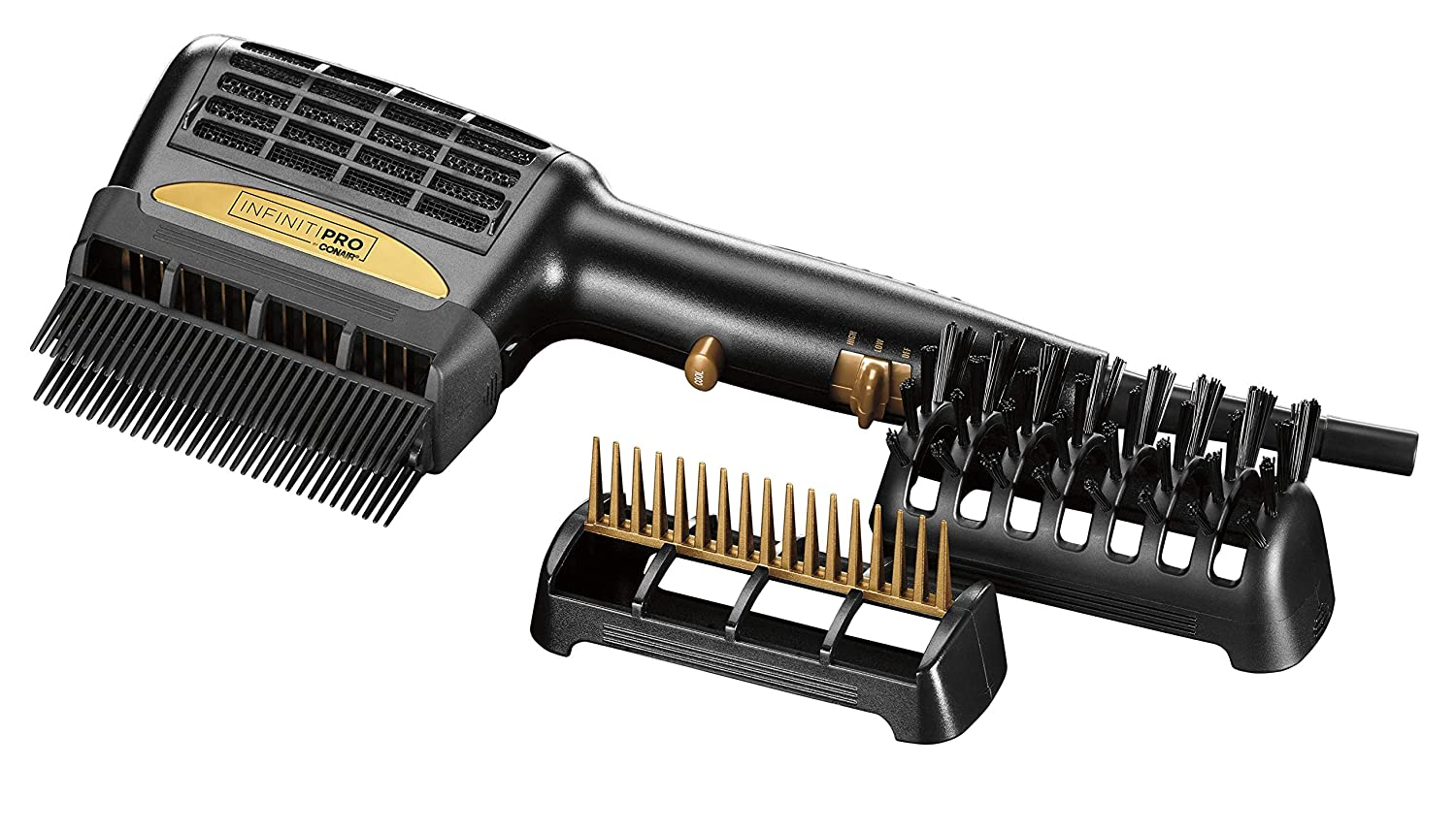 Infinitipro By Conair 1875W 3-in-1 Hair Dryer, One Step Style & Dry, Detangle/Straighten/Volumize