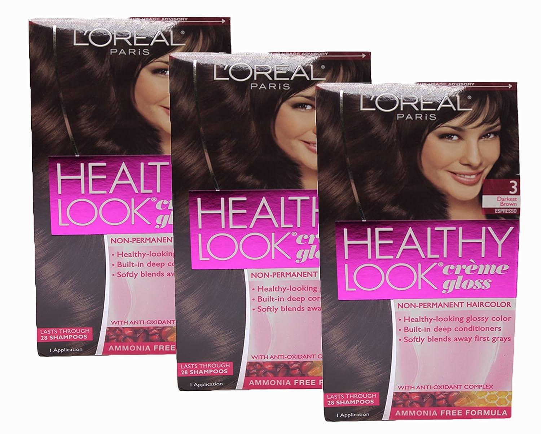 Amazon.com : Loreal Healthy Look Hair Dye, Creme Gloss Color 6BB ...