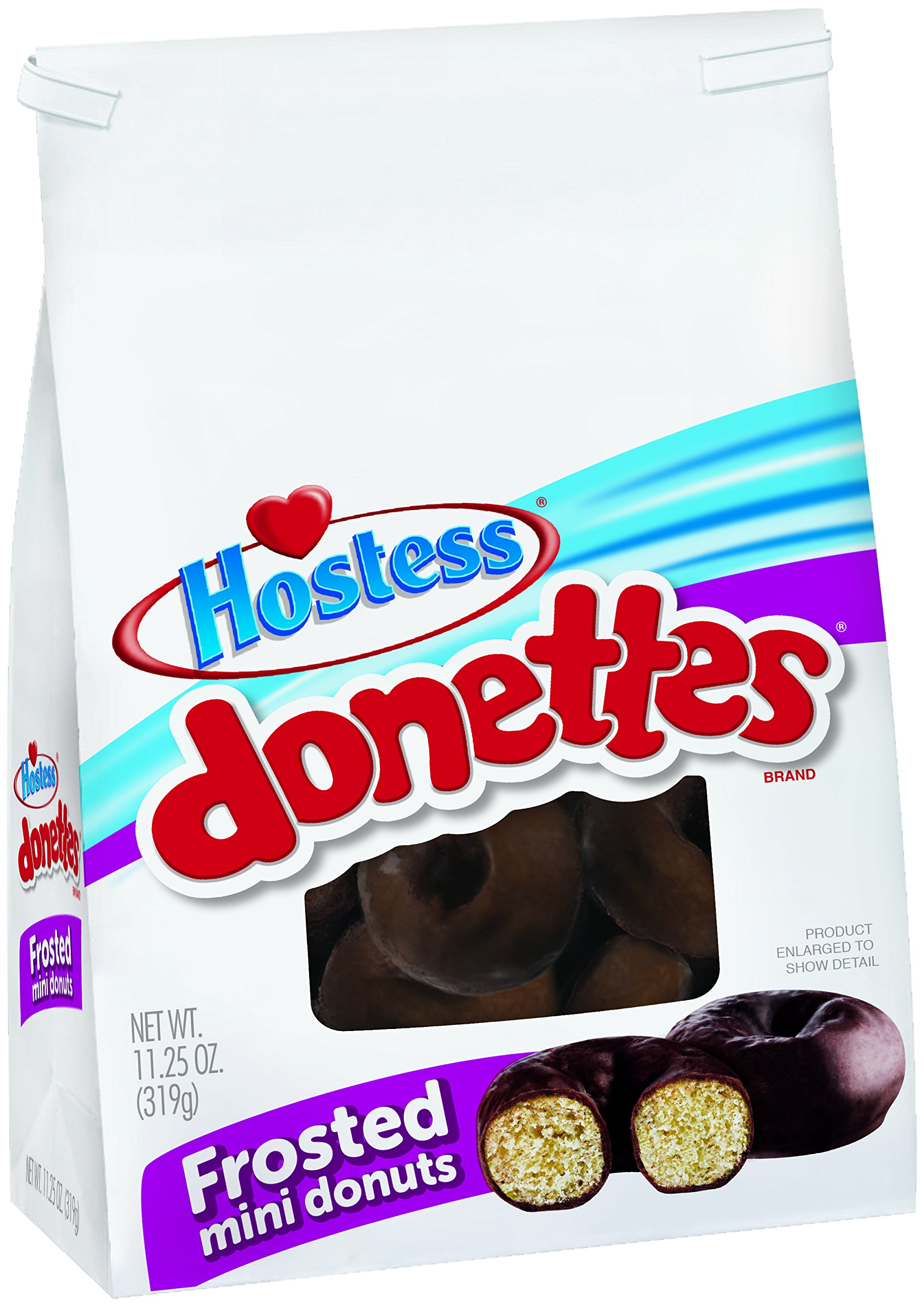 Hostess Donettes Mini Donuts, Frosted, 11.25 Ounce (Pack of 6) by Hostess