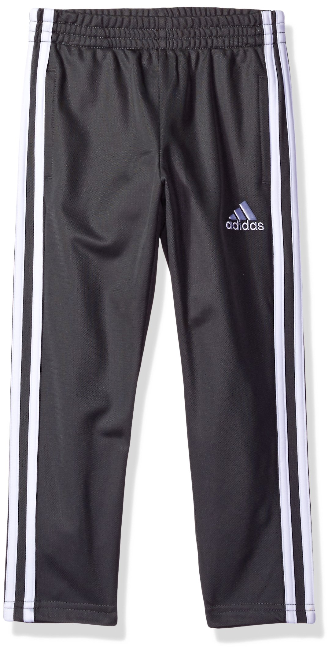 adidas Boys' Little Tricot Pant, Dark Gray, 7