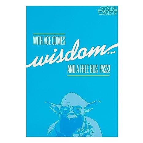 Amazon.com: Star Wars con la edad comes Sabiduría y a Free ...