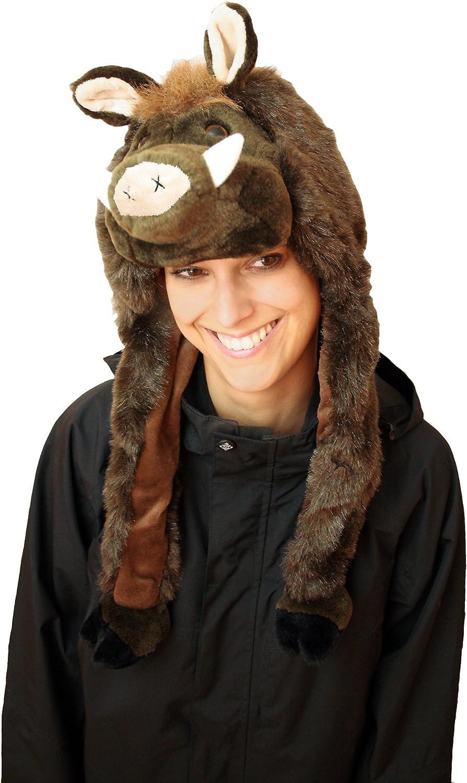 Glamexx24 Tierm/ütze Winterm/ütze Hut Kopfbedeckung Kost/üm Karneval Cap Hat