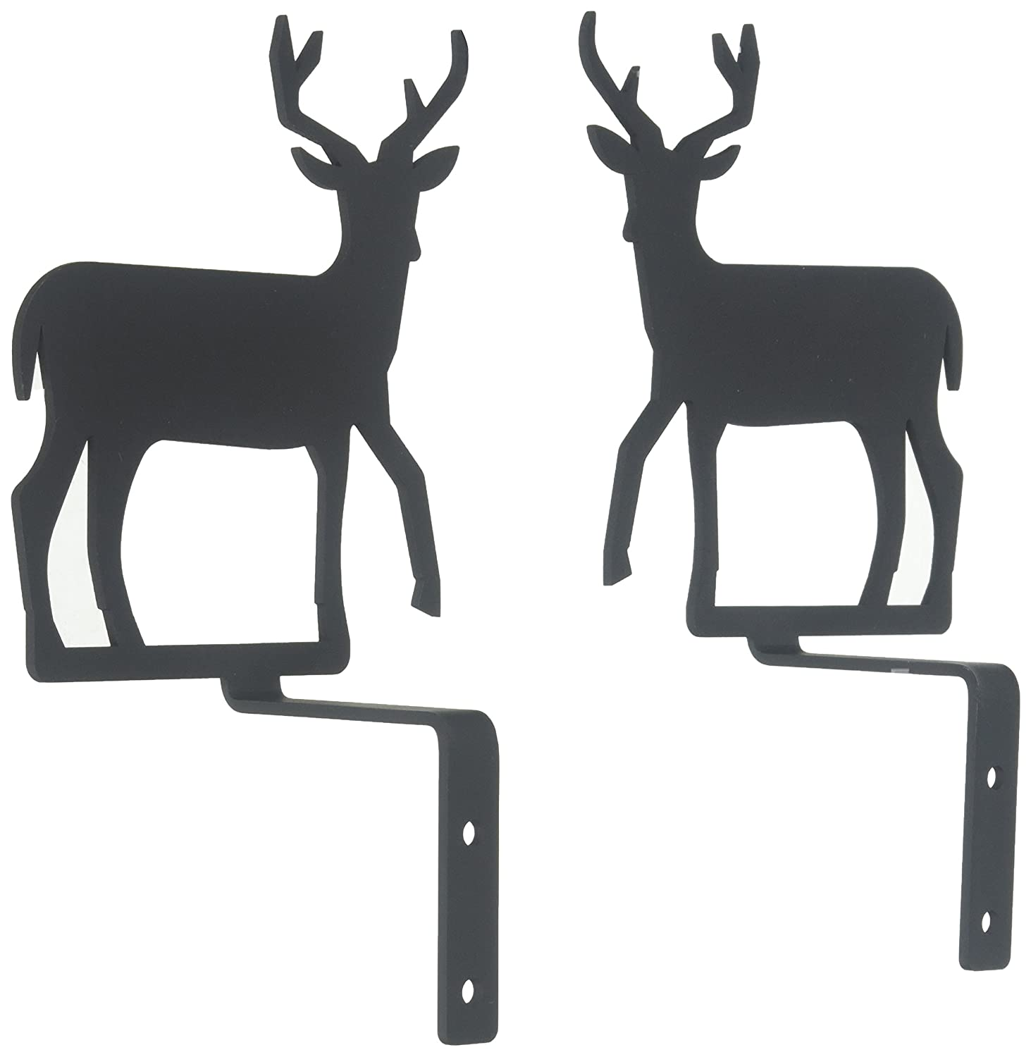 6.25 Inch Deer Curtain Swags Village Wrought Iron CUR-BRAC-XS