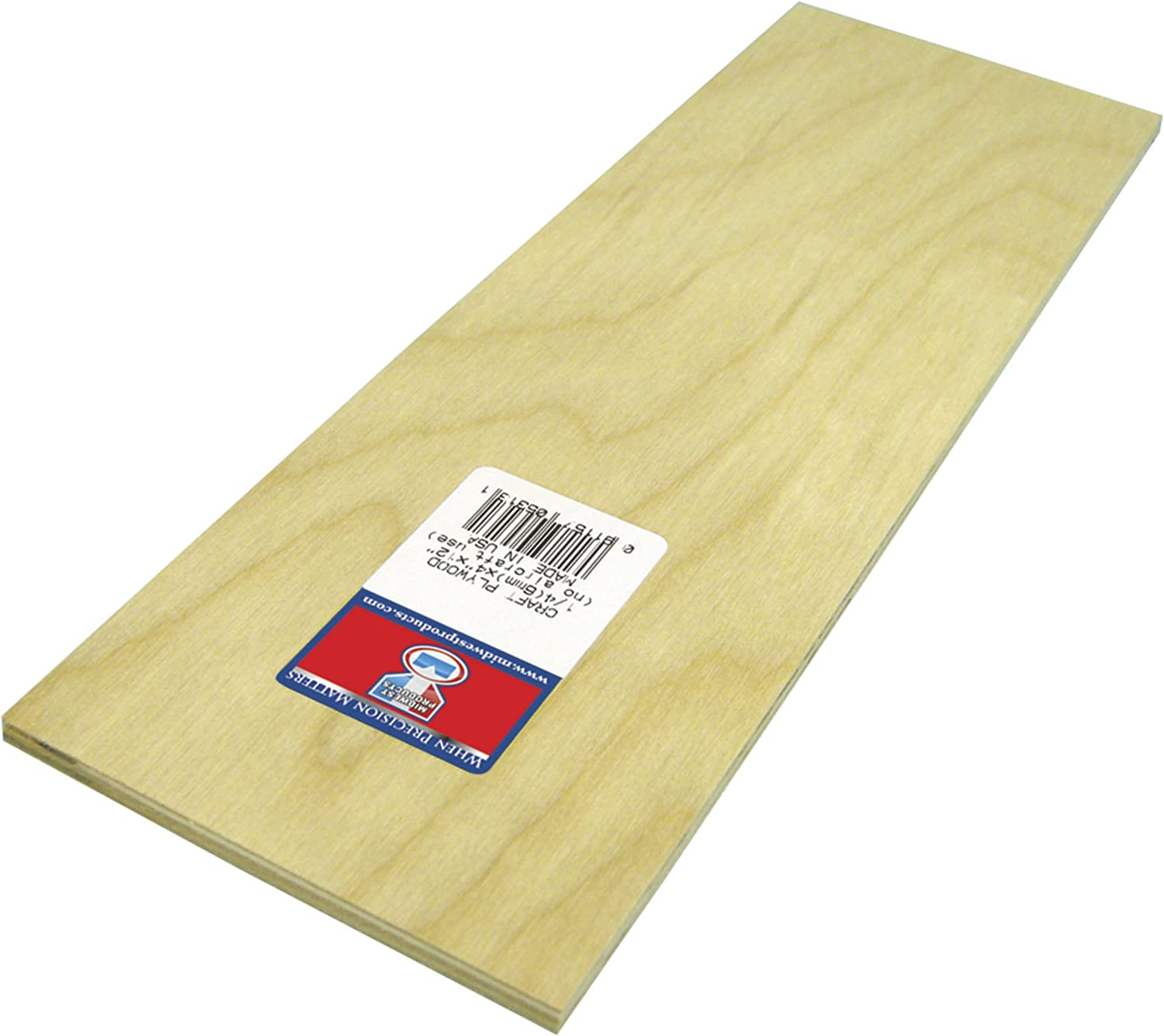 Midwest Products Co In 5316 Plywood Craft 0.25 x 12 x 24 in Pack Of 6