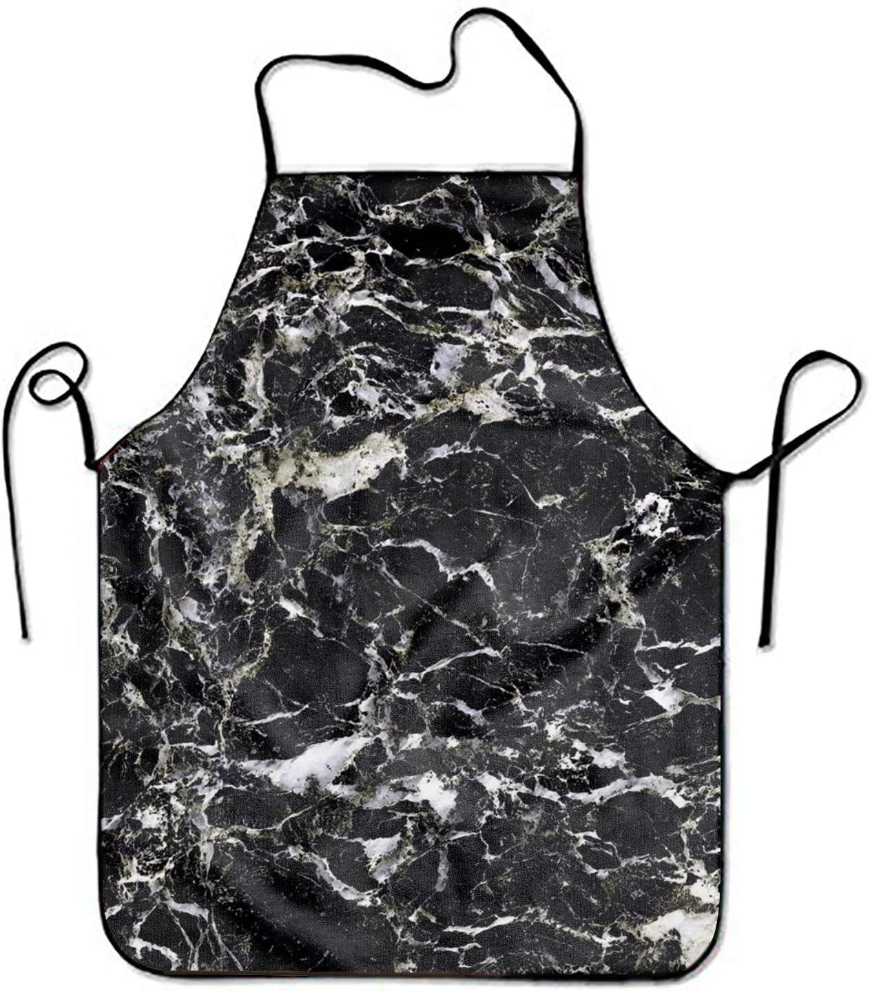 Not Applicable Delantal Ajustable de mármol Natural Negro para Cocina Barbacoa Barbacoa Cocina Mujeres 's Hombres' s Gran Regalo para Esposa Damas Hombres Novio