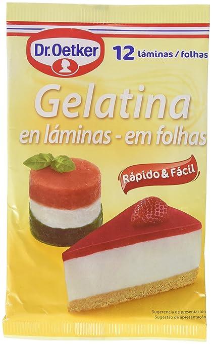 Dr. Oetker Gelatina - 12 láminas: Amazon.es: Amazon Pantry