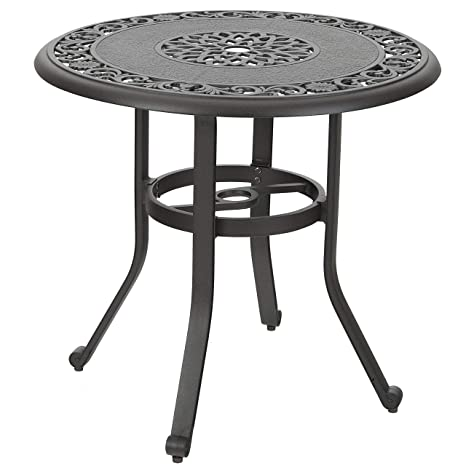 Amazon.com: PHI VILLA - Mesa de comedor redonda de aluminio ...