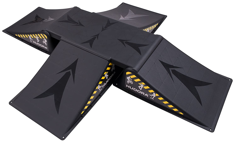 Hudora 11118 Negro 4pieza , Negro, 80 kg, Patines en l/ínea s s 4 Pieza Rampas de monopat/ín rampa de monopat/ín