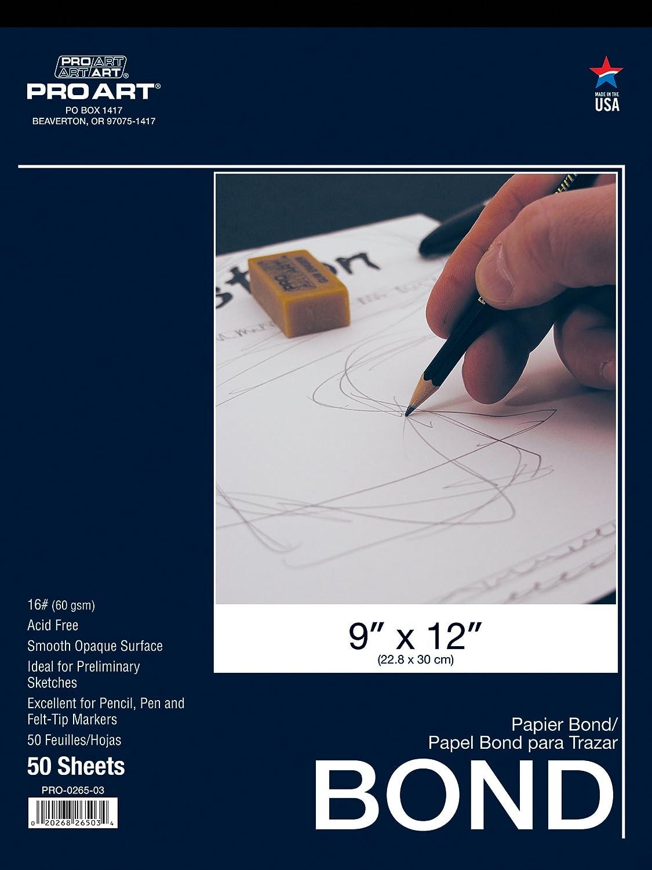 PRO ART 14-Inch by 17-Inch Bond Paper Pad