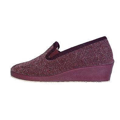 222SHOP 1103 Burdeos Zapatillas de Andar por casa para Mujer: Amazon.es: Zapatos y complementos