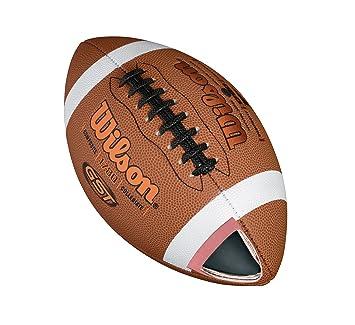 Wilson Pelota de fútbol americano, Uso recreativo, Tamaño juvenil, GST OFFICIAL COMPOSITE, Marrón, WTF1784XB: Amazon.es: Deportes y aire libre