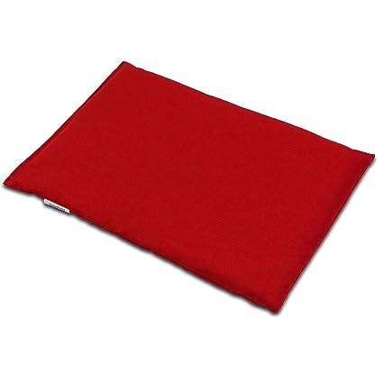 Almohada térmica de semillas 30x20cm rojo | Saco térmico ...