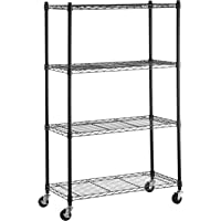 AmazonBasics 4-Shelf Shelving Unit on 3