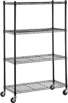 AmazonBasics 4-Shelf Shelving Unit on 3