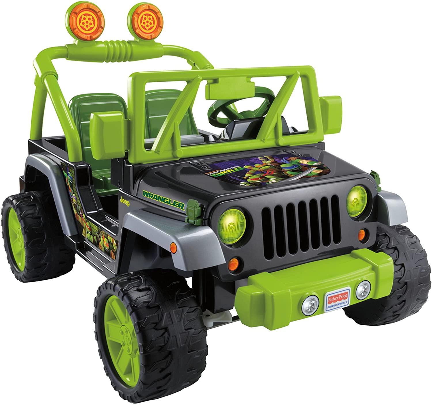 Amazon.com: Fisher Price Jeep Wrangler de las Tortugas Ninja ...
