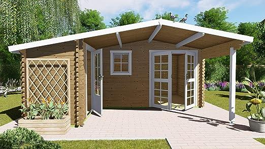 AL Timber Ltd - Cabaña de madera para jardín u oficina en forma de L (5, 1 m x 4, 8 m): Amazon.es: Jardín