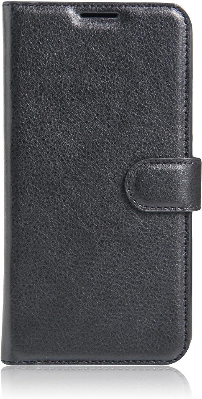 ECENCE Funda para el Xiaomi Redmi Note 4 Note 4X Libro Cover Wallet Case-s Bolsa Negro 23020309