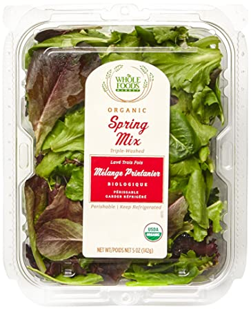 Whole Foods Market, Organic Spring Mix, 5 oz Clamshell
