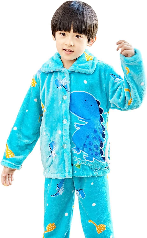 BLOSSOMLIFE Winter Flannel Warm Pajamas Set for Girl PJs Costumes Girl Cozy Pajama