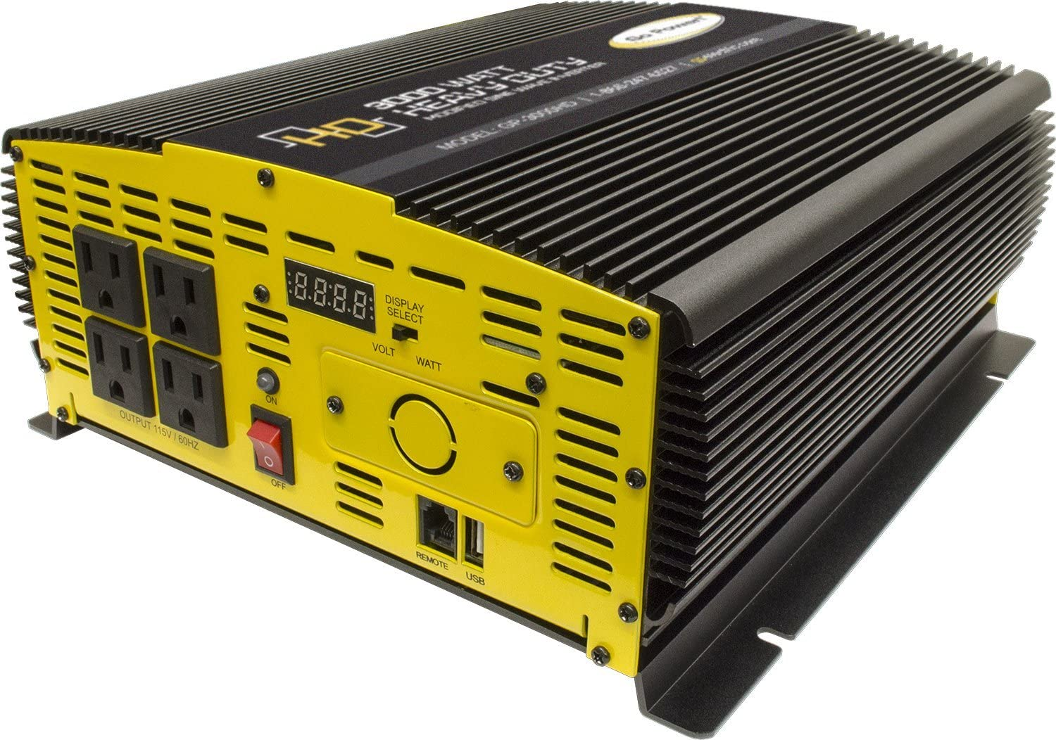 Go Power! Heavy Duty Modified Sine Wave Inverter (3000-watts): Automotive