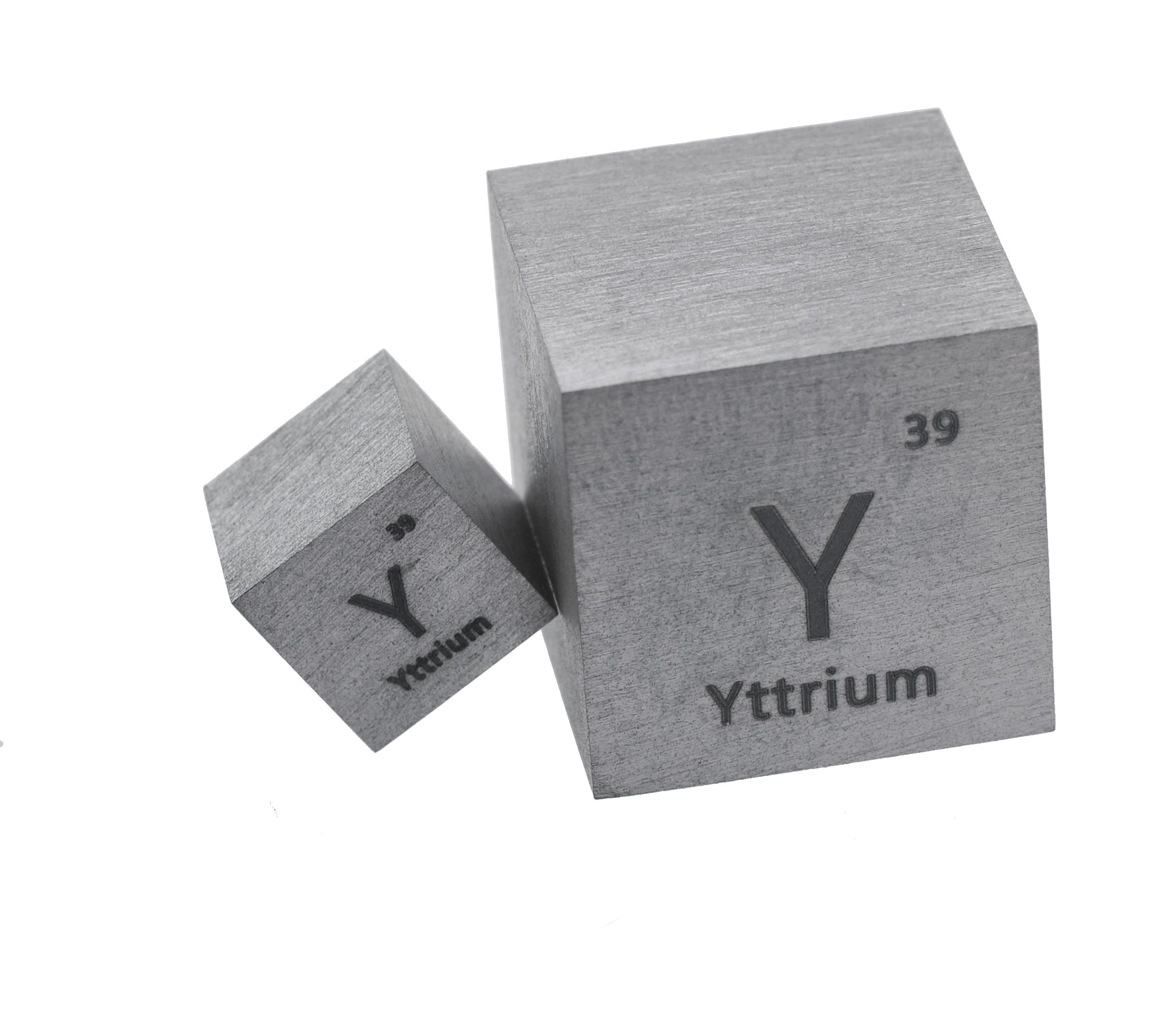 Yttrium Metal 10mm Density Cube 99.95% Pure