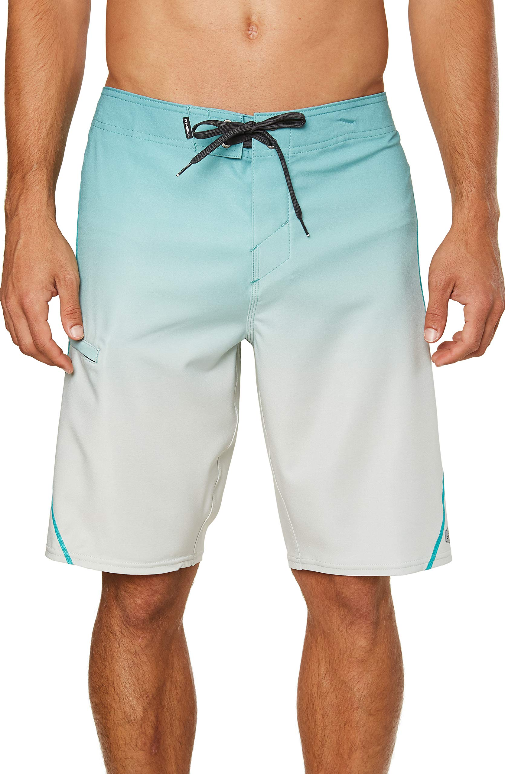 O'NEILL Men's Water Resistant Hyperfreak Stretch S-Seam Swim Boardshorts, 21 Inch Outseam (Teal / HO19, 36) by O'NEILL