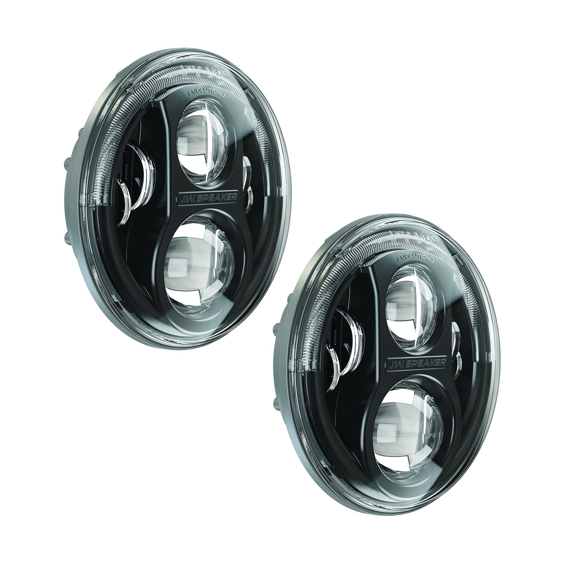 Galleon Jw Speaker 8700j B Black Led Headlight Set Of 2