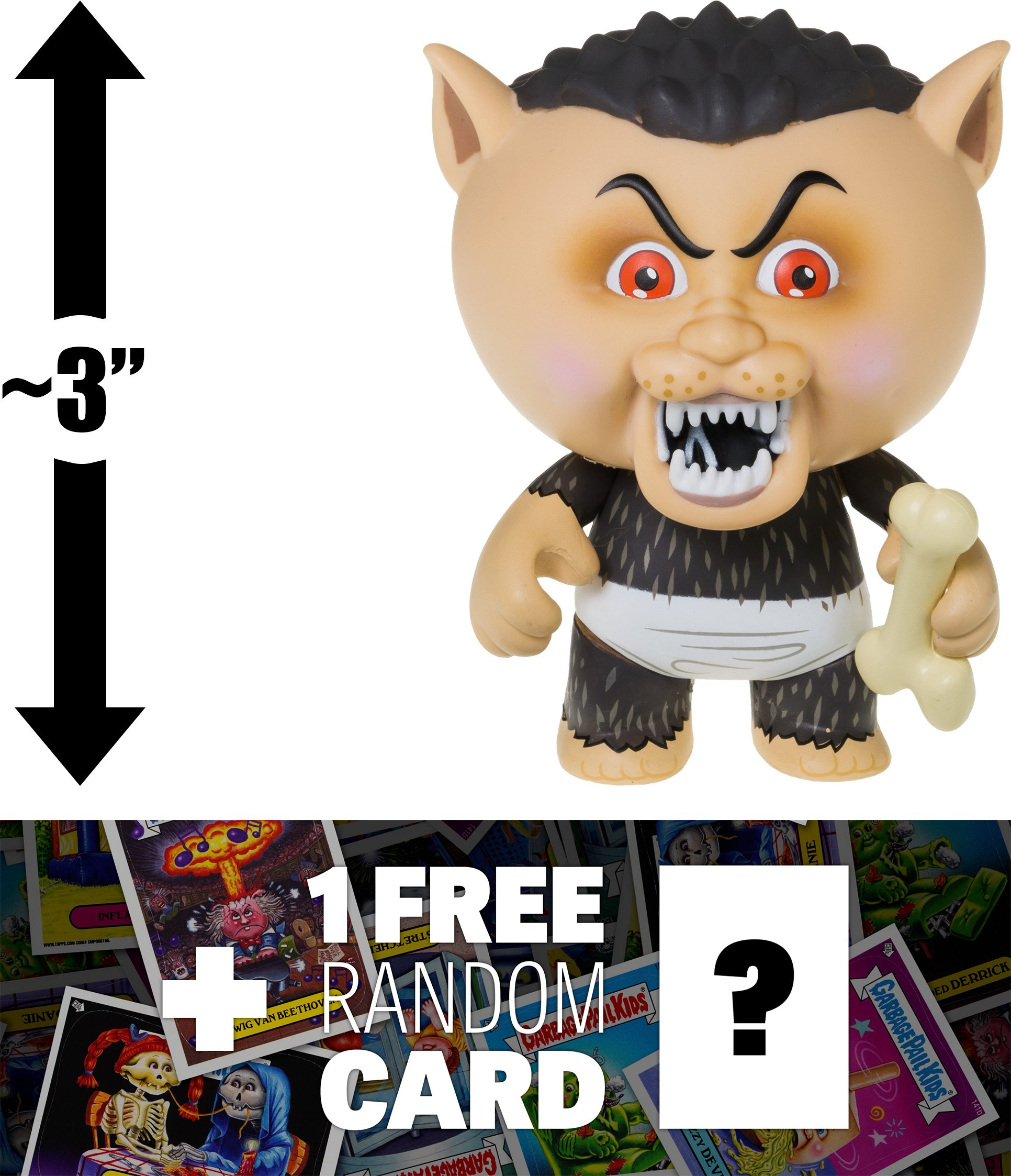 Eerie Eric: ~3'' Garbage Pail Kids x Funko Mystery Minis Mini-Figure Series #2 + 1 FREE GPK Trading Card/Sticker Bundle (108454) by Garbage Pail Kids (Image #1)