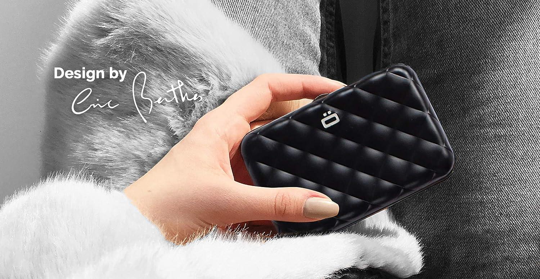 Capacit/é jusqu/à 10 Cartes RFID Protection : prot/ège Vos Cartes Contre la fraude Billets Porte-Cartes Quilted Button Rouge re/çus Aluminium anodis/é /ÖGON Smart Wallets