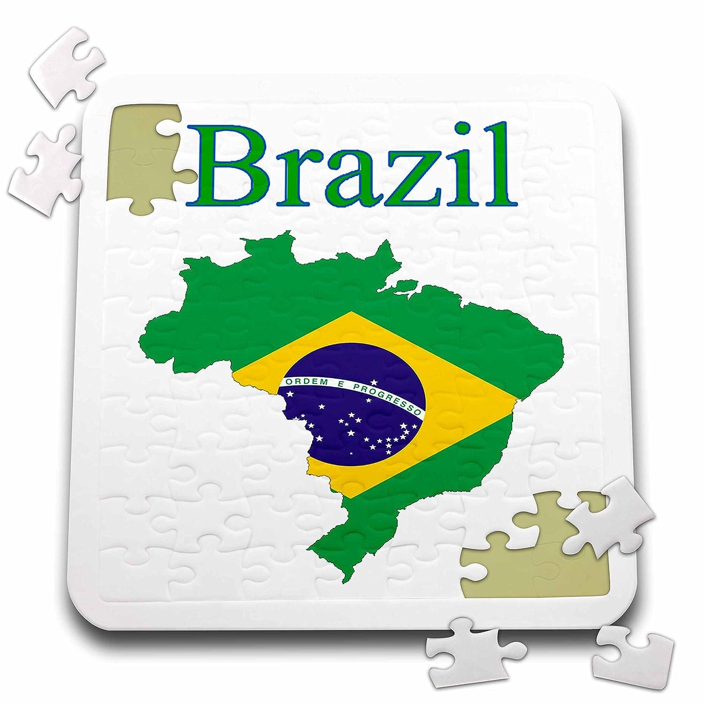Amazon Com Florene Maps In Exotic Outline Image Of Brazil Flag In