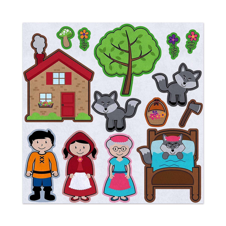 Amazon Com Red Riding Hood Story Adventure Felt Play Art Set