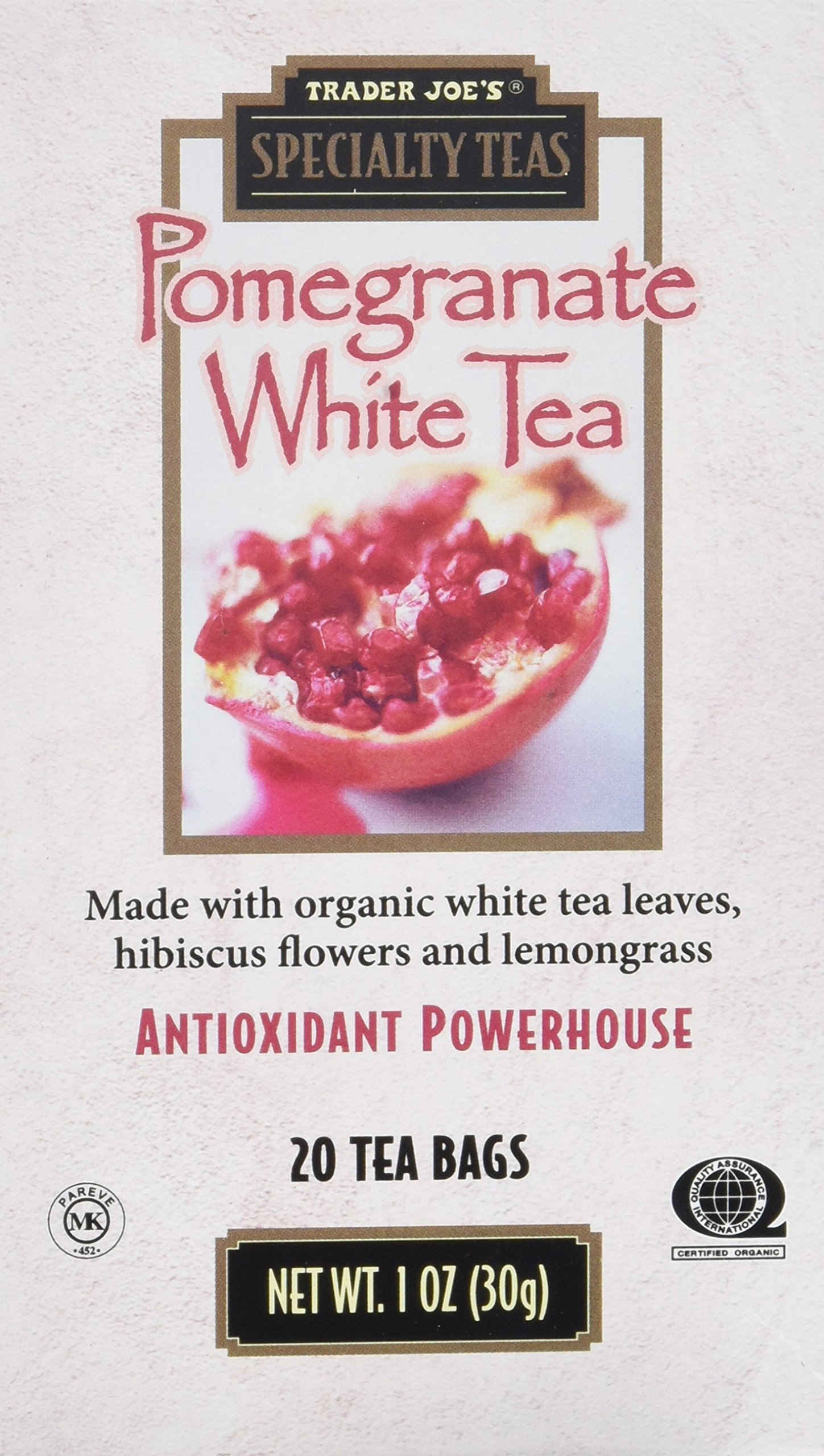 Pomegranate White Tea (2 Pack) by Trader Joe's (Image #1)