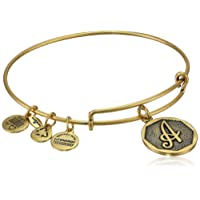"""Alex and Ani Initial Expandable Wire Bangle Bracelet, 2.5"""""""