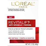 L'Oreal Paris Skincare Revitalift Anti-Wrinkle and Firming Face and Neck Moisturizer with Pro-Retinol Paraben Free 1.7…