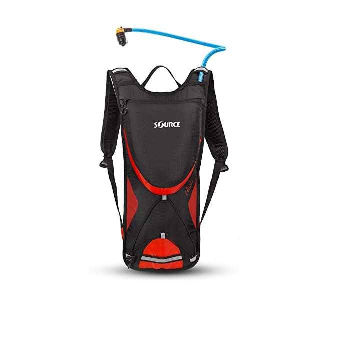 Amazon.com : Source Outdoor Brisk 2L Hydration Pack, Black/Red : Sports & Outdoors