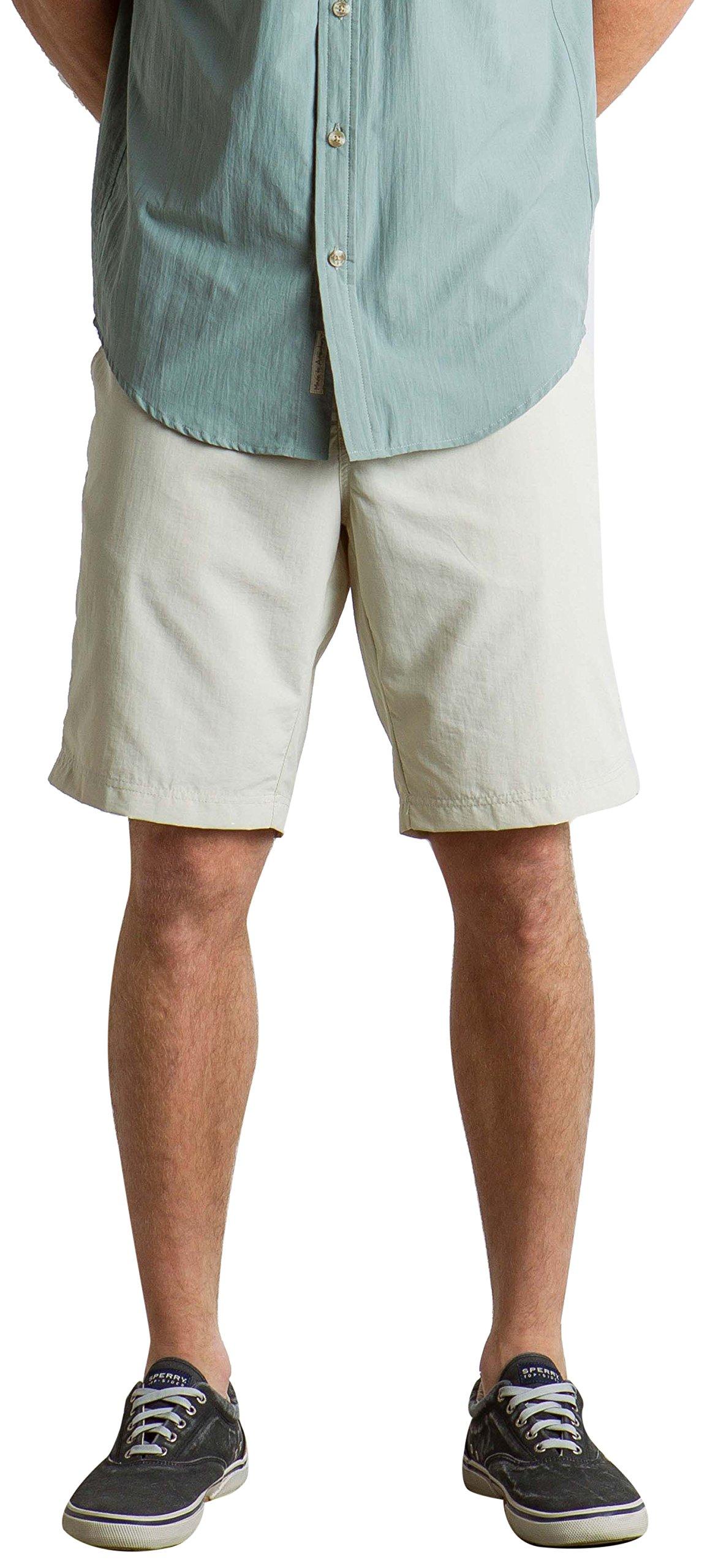 ExOfficio Men's Sol Cool Nomad Lightweight Quick-Dry Shorts, 10'', Light Stone, Size 34 by ExOfficio