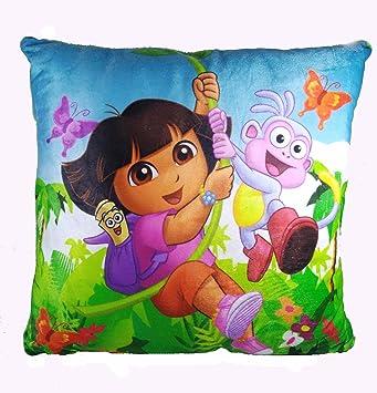 A-Mart Girls Soft Dora Doll Green Toy Pillow - 13 x 13 inch