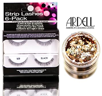 fc92f439984 Ardell Professional STRIP LASHES 6-pack, 109 BLACK, Contains 6 pair of  lashes