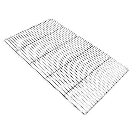 Parrilla rectangular 67x40 cm Barbacoa Plancha Asadero Acero ...
