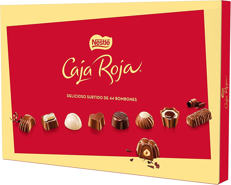NESTLÉ CAJA ROJA  Bombones de Chocolate - Estuche de bombones 400 g