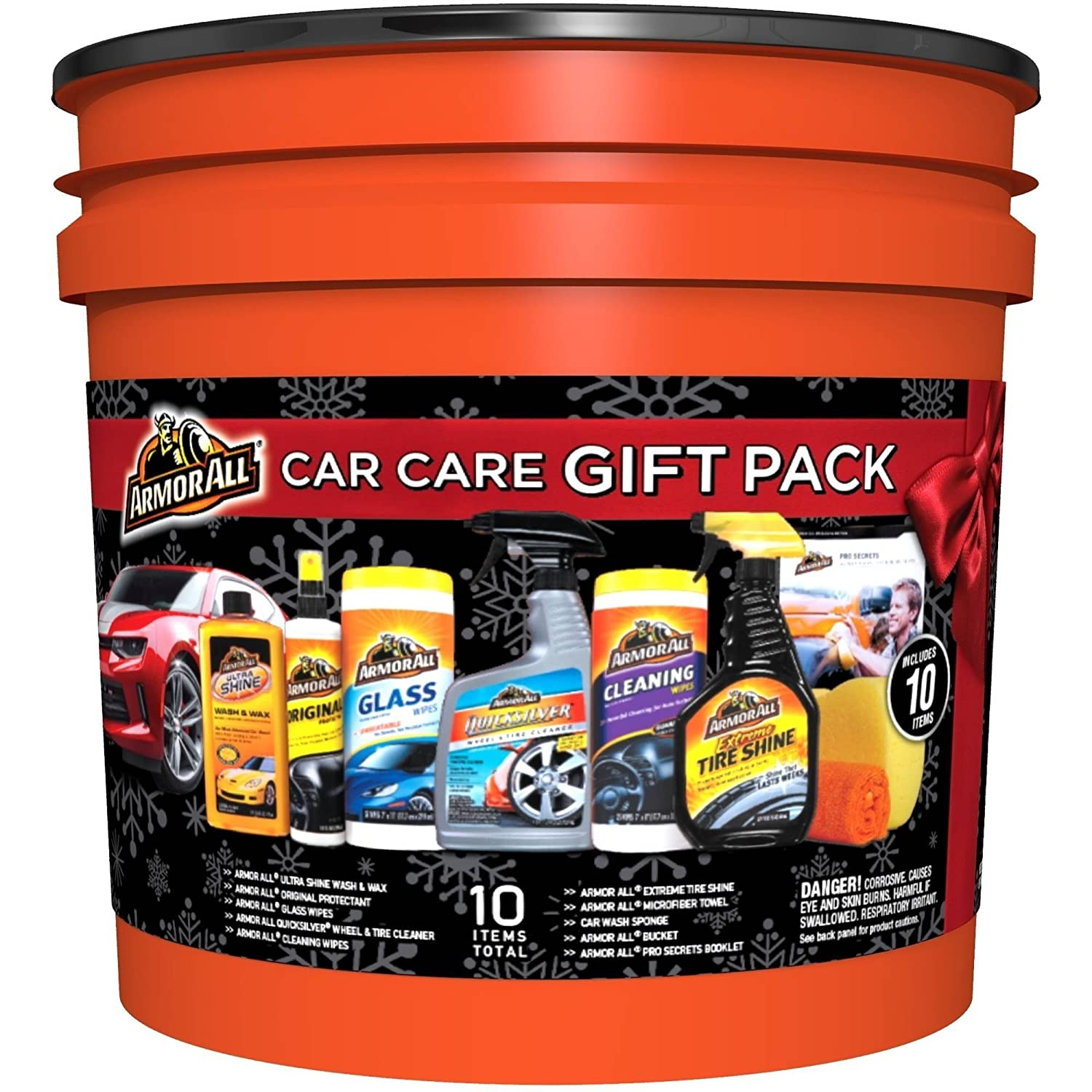 Armor All Complete Ultimate Car Care Gift Pack, Holiday Gift Pack, 10 Items