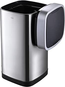 EKO 50-Liter Stainless Steel Metal Indoor Touchless Trash Can