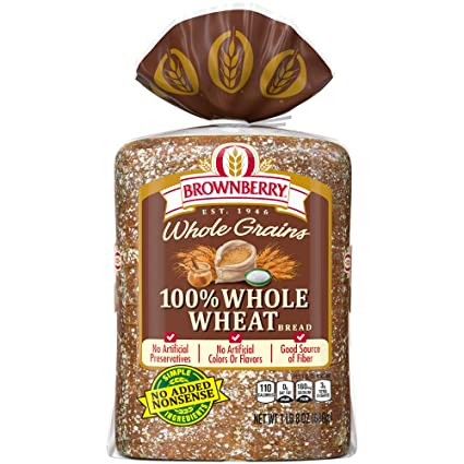 Brownberry Whole Grains 100% Whole Wheat Bread, Made with ...