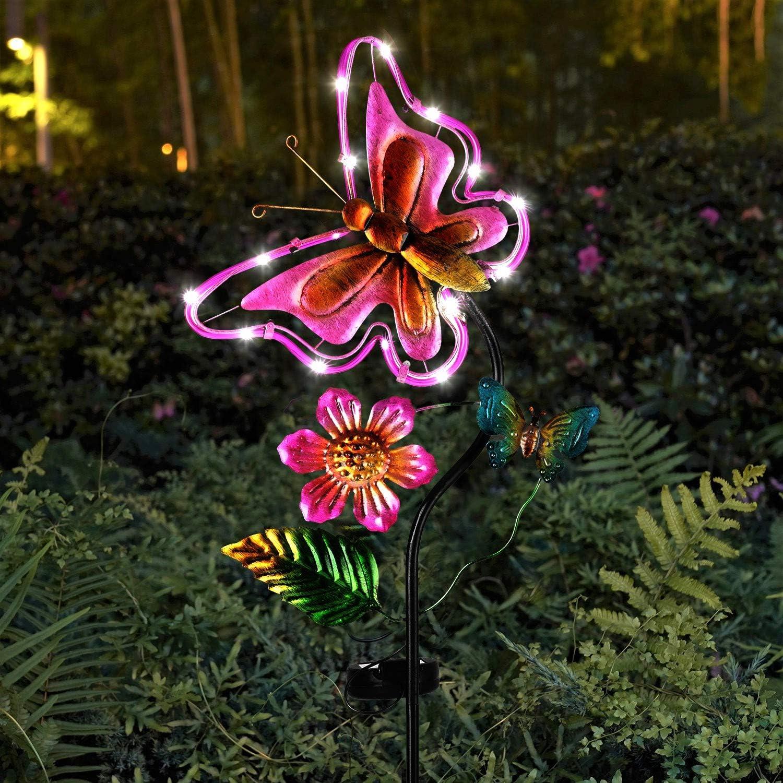 Solar lights decorative garden stakes outdoor peacock decorations for garden yard patio porch lawn.