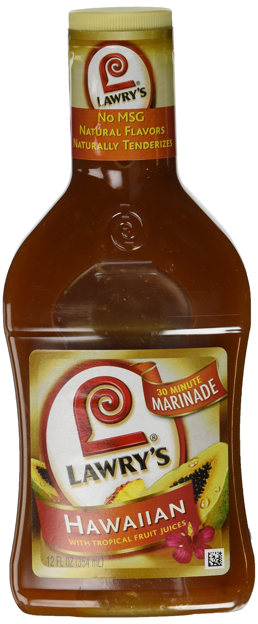 Lawry's, Hawaiian with Tropical Fruit Juices Marinade, 12oz Bottle (Pack of 3)