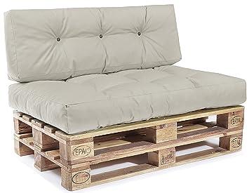 Easysitz Palettenkissen Set Palettensofa Palettenpolster Palettenauflagen Sofa Kissen Polster Auflage Indoor Outdoor Gesteppt Fur 120 X 80 Cm