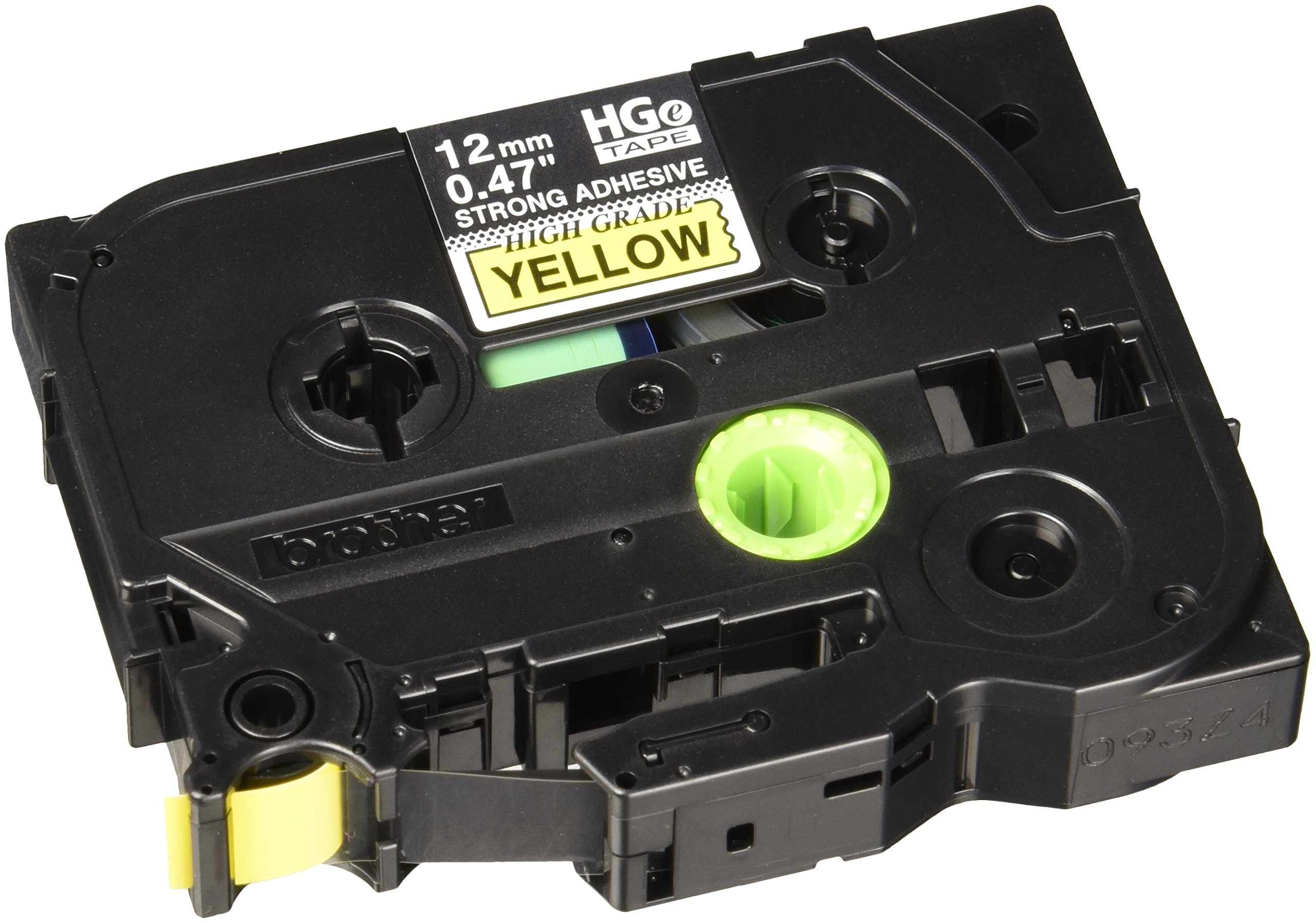 HGES6315PK Black on Yellow Extra-Strength Adhesive Label Tape