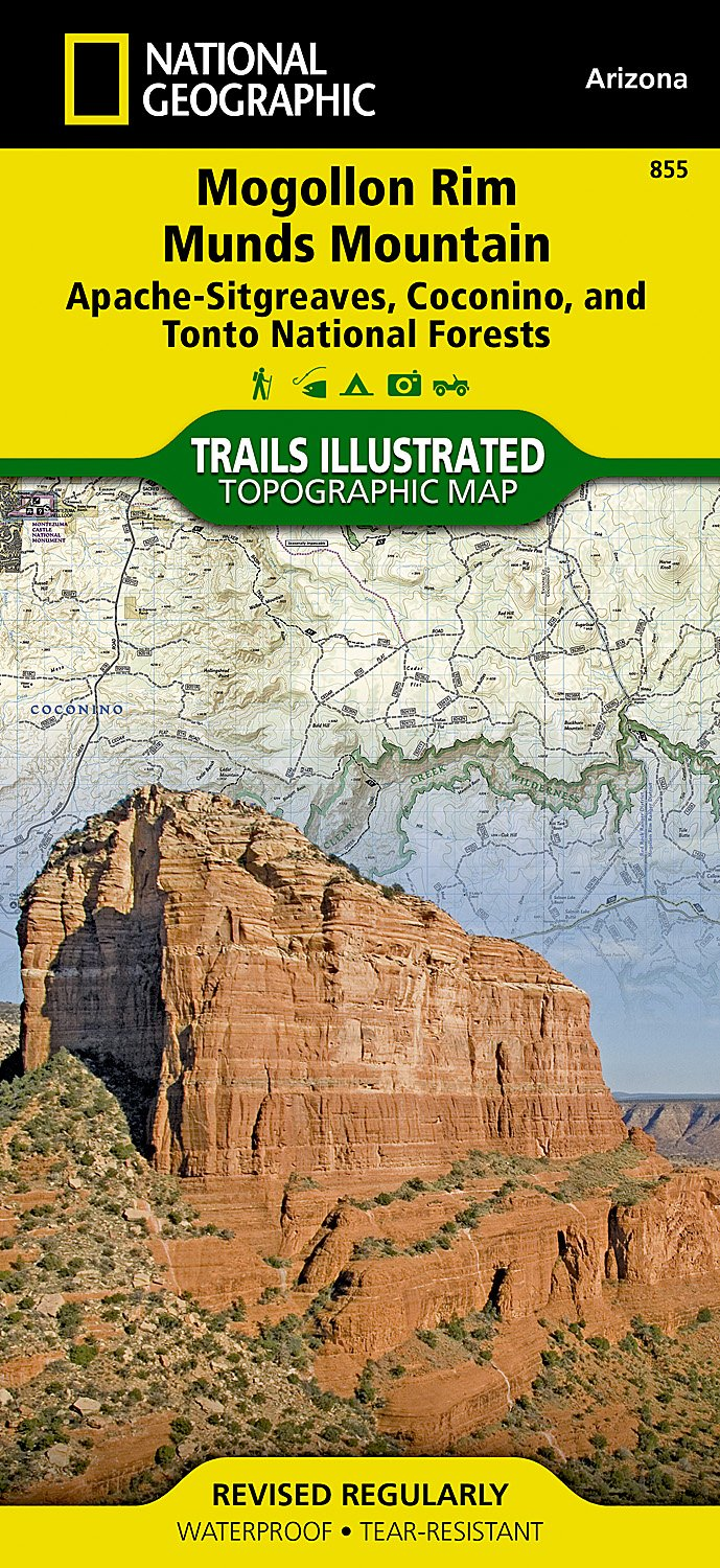 Read Online Mogollon Rim, Munds Mountain [Apache-Sitgreaves, Coconino, and Tonto National Forests] (National Geographic Trails Illustrated Map) ebook